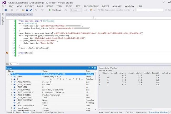Les nouvelles fonctions d'apprentissage machine d'Azure intégrées avec Python.