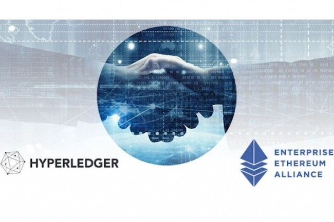 Hyperledger et l'alliance Ethereum vont collaborer au sein de divers groupes d'intérêts, de travail et mettre en contact des développeurs des deux communautés. (crédit : EEA)