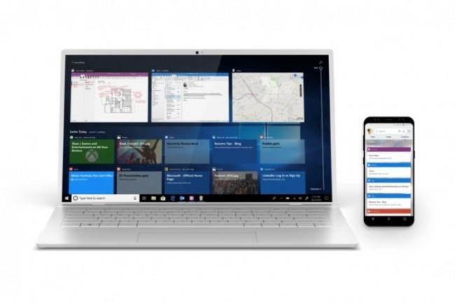 Avec la dernière mise à jour d'octobre de Windows 10, on peut facilement envoyer des fichiers vers son mobile. (Crédit Microsoft)