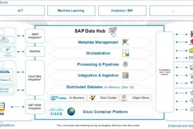 La solution Data Hub de SAP va maintenant pouvoir reposer sur l'environnement Container Platform de Cisco. (crédit : Cisco)
