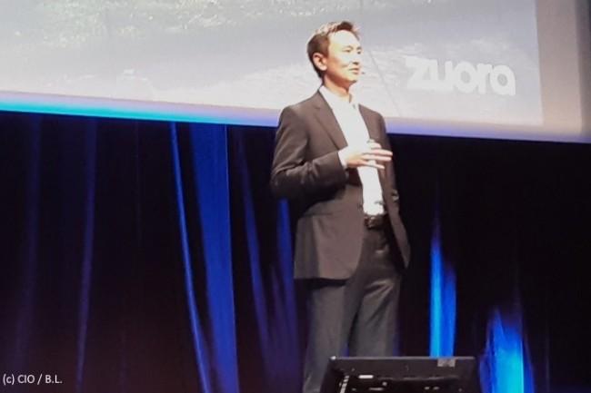 Tien Tzuo, CEO fondateur de Zuora, s'est réjoui des dix ans de l'entreprise et de la cinquième édition de Subscribed Paris.