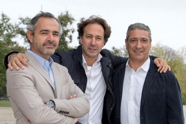 Les trois co-fondateurs de Share.Place combinent une expérience variée dans le logiciel. De gauche à droite, Fabrice Bonan, co-créateur de Talend, Patrick Amiel, co-fondateur de la plateforme d'intermédiation MyBestPro, et François Chiche, ancien d'Adobe. (Crédit : D.R.)