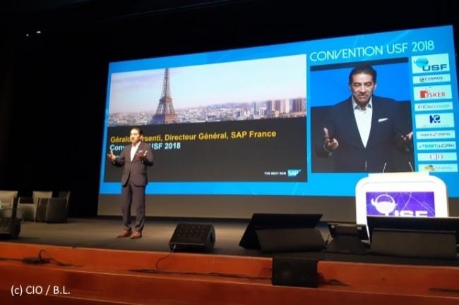 Dernier DG de SAP France, Gérald Karsenti, présent à la Convention USF, est prêt à un dialogue franc avec les clients.