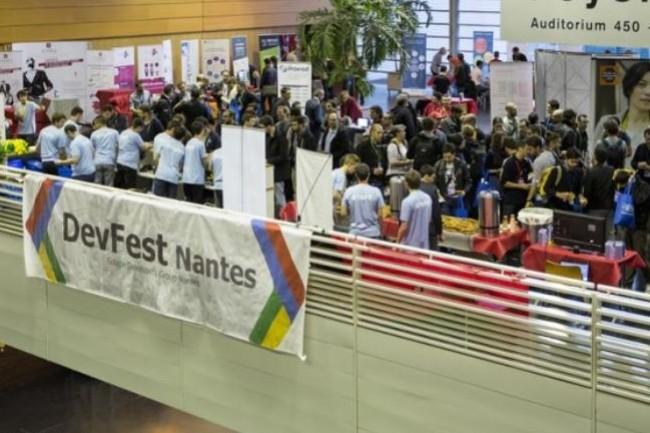 L'an dernier, le festival DevFest Nantes avait réuni 3 200 participants, 85 speakers  et plus de 40  exposants à la CIté des Congrès. Crédit. D.R.