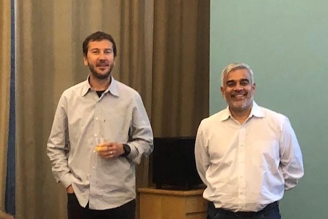 Loris Degioanni, CTO et cofondateur de Sysdig aux cotés de son CEO Suresh Vasudevan. (Crédit S.L.)