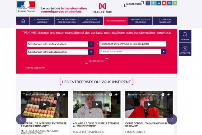 A travers le portail Francenum.gouv.fr, les TPE/PME devraient pouvoir bientôt trouver des accompagnateurs en région pour les aider dans leurs projets numériques. (Crédit : D.R.)