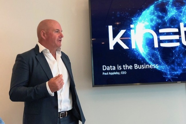Paul Appleby, CEO de Kinetica, compte ouvrir un bureau en France en 2019 après la Grrande-Bretagne et l'Allemagne. (Crédit S.L.)