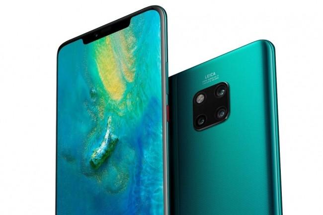 Le Mate 20 Pro de Huawei se distingue notamment du Mate 20 par la forme de son encoche, plus large. (Crédit : Huawei)