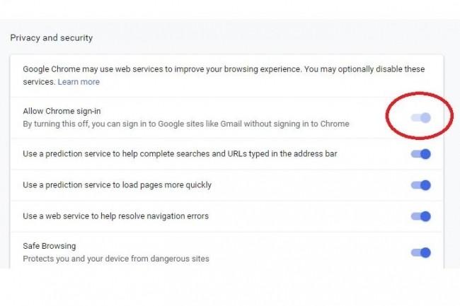 Depuis Chrome 69, la connexion à un service Google comme Gmail connecte automatiquement au navigateur. Chrome 70 permet de le désactiver. (Crédit : Google)