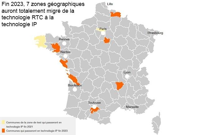 Des communes de Haute-Garonne, Vendée, Seine-et-Marne, Charente-Maritime, Nord, Haute-Loire et du Morbihan auront totalement migré vers la VoIP fin 2023. (Crédit : Orange)