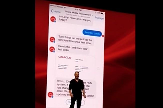 Toujours facétieux, Larry Ellison a égratigné l'assistant Alexa d'Amazon lors de la présentation de son chatbot vocal. (Crédit D.R.)