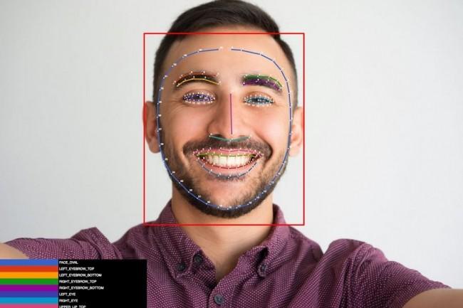 L'API de détection de visage de Firebase permet maintenant, avec Face contours, de détecter plus de 100 points de détail sur des visages. (Crédit : Google)