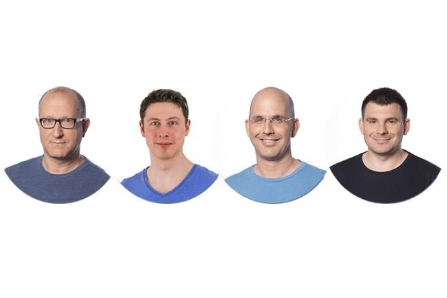 StarkWare a été fondée en janvier 2018 par (de gauche à droite) Eli Ben-Sasson, Alessandro Chiesa, Uri Kolodny et Michael Riabzev. (Crédit : StarkWare)