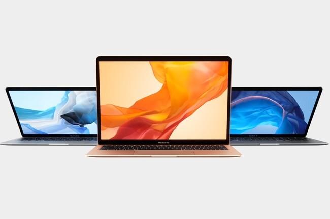 Deux ans plus tard, la version 13 pouces du MacBook Air avec écran rétina 128 Go est lancée 1123€ HT et 1332€ pour 256 Go. (Crédit : Apple)