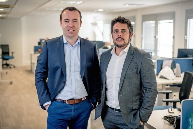 Julien Mathis (à gauche) et Romain Le Merlus, co-fondateurs de Centreon, respectivement PDG Europe et CEO North America, se sont installés cet été à Toronto pour développer le marché américain. (Crédit : D.R.)