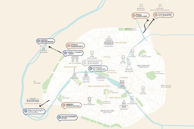 Viparis gère 10 sites de congrès et salons parisiens et a équipés les trois principaux d'un réseau LoRaWAN fournit par Hub One. (Crédit : Viparis)