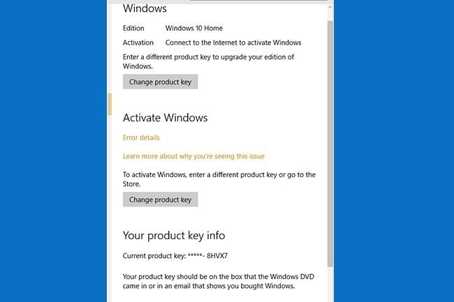 Ce problème d'erreur d'activation d'une ancienne version de l'OS de Microsoft vers Windows 10 n'est pas une première. (Crédit : Microsoft)