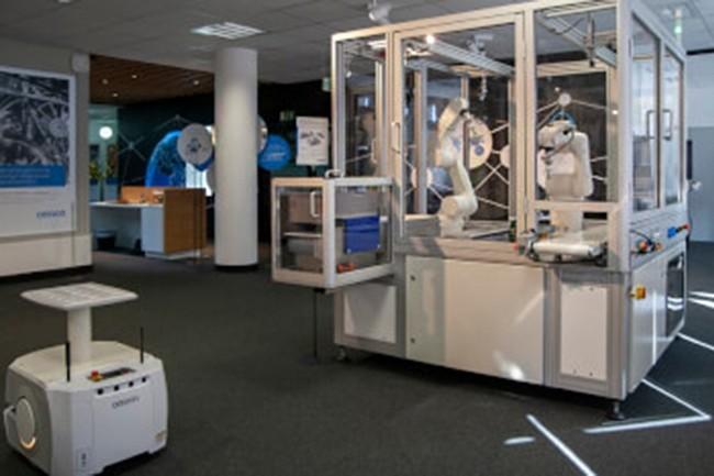Cinq laboratoires d'innovations sur sept, dont celui de Stuttgart en Allemagne, sont déjà ouvert depuis la mi-octobre. (Crédit : Omron)
