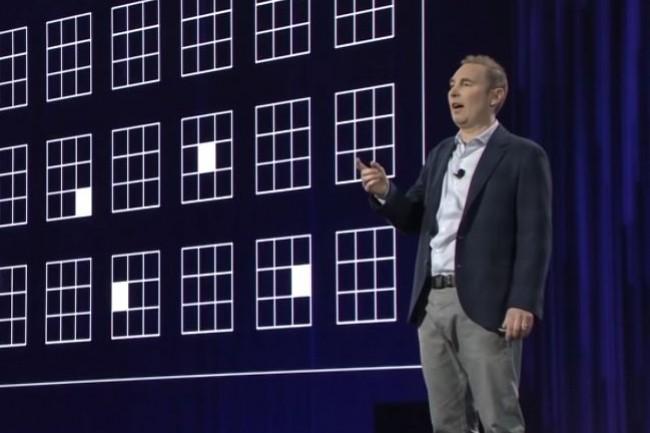 Andy Jassy, directeur général d'AWS, répond du tac au tac aux piques du Larry Ellison sur la performance cloud de leurs solutions respectives. (crédit : D.R.)