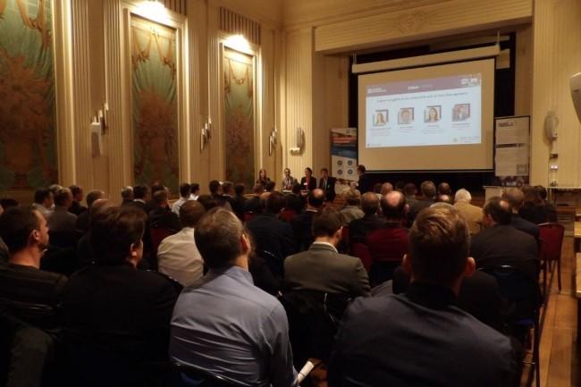 80 participants ont assisté à la matinée-débats du Monde Informatique à la CCI le 8 novembre 2018. (crédit : N.H.)