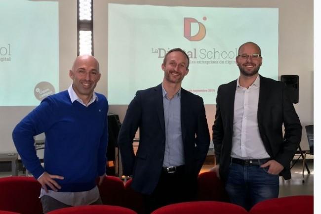 """L""""école créée par Charles Cabillic, fondateur du groupe W3, Alexis Drieux-Falgon et François Pouletty (respectivement président et directeur général de Brest Open Campus) vise à renforcer l'offre de formations au numérique sur le territoire breton. (Crédit : D.R.)"""
