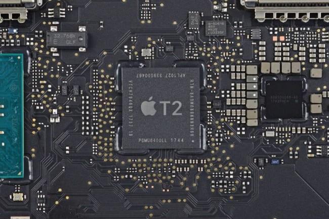 Avec sa puce T2, Apple veut garder la mainmise sur les réparations de ses produits. (Crédit D.R.)