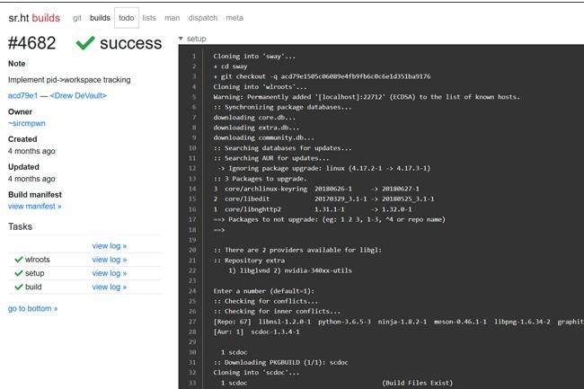 Sr.ht cherche à être plus open source que GitHub