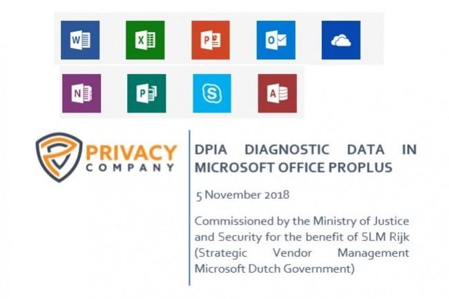 L'administration néerlandaise utilise la suite bureautique Office ProPlus de Microsoft qui collecte des données de télémétrie sur le comportement des utilisateurs. (Crédit : MS/Privacy Company)