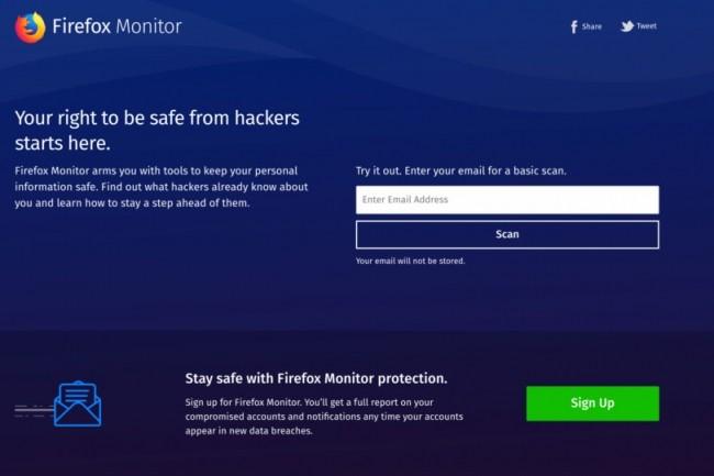 Mozilla a intégré son service d'alerte directement dans Firefox. (Crédit D.R.)