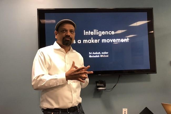 Sri Ambatin, CEO et cofondateur de la start-up H2O, mise sur l'automatisation des traitements IA. (Crédit S.L.)