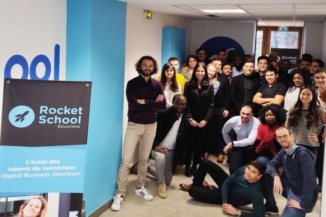 Pilotée par Cyril Pierre de Geyer, La Rocket School a ouvert ses portes ce lundi à une première promotion de 35 élèves. Crédit. D.R.