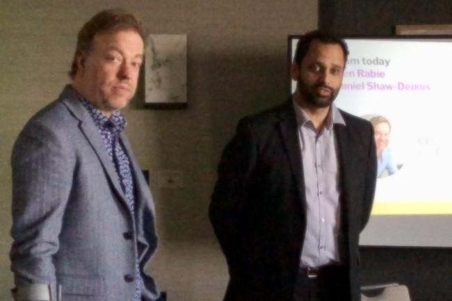 Glen Rable, CEO et cofondateur de Yellowfin avec Daniel Shaw-Denis (directeur du channel globa), attaque le marché européen depuis Londres. (Crédit S.L.)