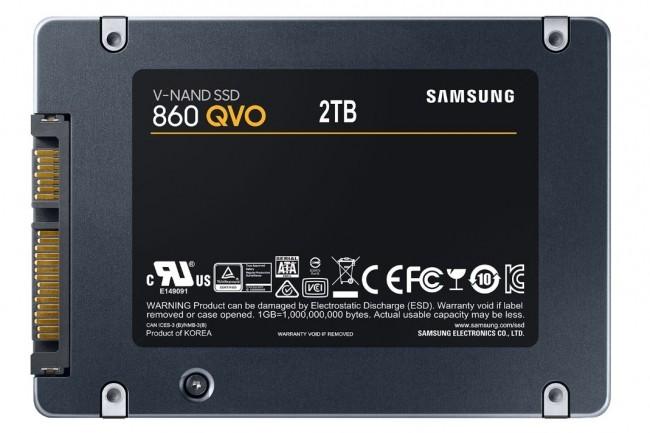 Globalement, le 860 QVO de Samsung est un excellent SSD même si on trouve sur le marché plusieurs disques concurrents de 1 To moins chers. (crédit : Samsung)