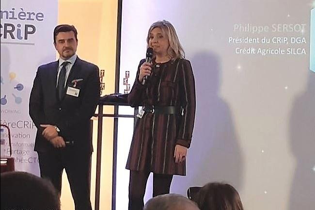 Philippe Sersot (à gauche), président du CRIP, et Sylvie Roche (à droite), déléguée générale du club, ont introduit la cérémonie. (Crédit : CIO/BL)