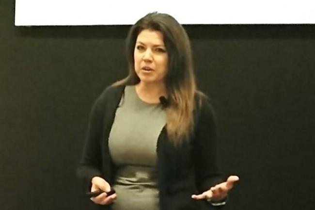 Jennifer Meyer, directrice des produits clouds netapp a confirmé la volonté du fournisseur de se renforcer dans les principaux clouds publics. (crédit : N.C.)