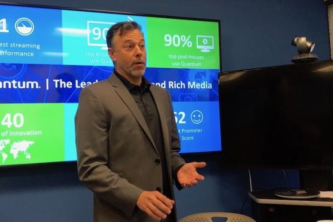 JamieLerner, CEO de Quantum,explique que la relance de société consiste à aligner la pensée du fournisseur sur celle de ses clients dans le domaine des médias et du divertissement.(Crédit S.L.)