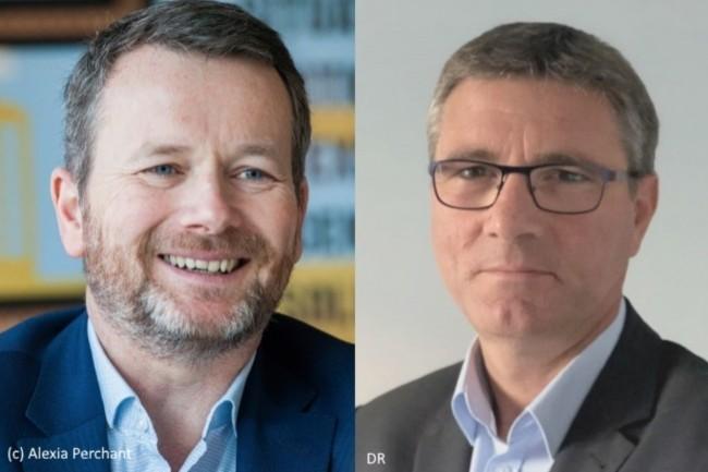Laurent Stricher (à gauche) est remplacé comme DGA SI de Pôle Emploi par Franck Denié (à droite).
