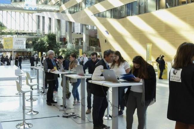 Pour sa première édition, l'événement Future of Work co-organisé par la région Auvergne-Rhône Alpes et Linkedin a réuni 300 personnes a Lyon. (Crédit. Région Auvergne-Rhône-Alpes)