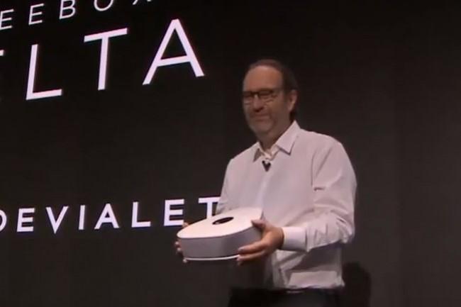 Xavier Niel, PDG et fondateur de Free, a présenté la Freebox Delta le 4 décembre 2018. (crédit : D.R.)