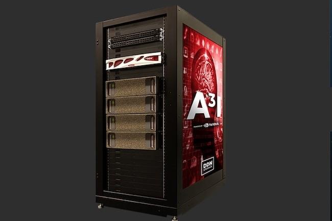 Pour doper les traitements IA utilisés pour l'analyse des images médicales, DDN s'est associé à Nvidia pour sa solution A3I combinante une baie AI200etun serveur DGX-1. (crédit : D.R.)
