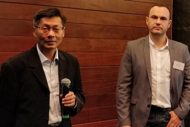 Sophânara de Lopez, datascientist chez Total, et Arnaud de Almeida, directeur du service de la valorisation des données chez Total, sont revenus sur la migration d'un projet IA en production. (Crédit Photo : D.R)