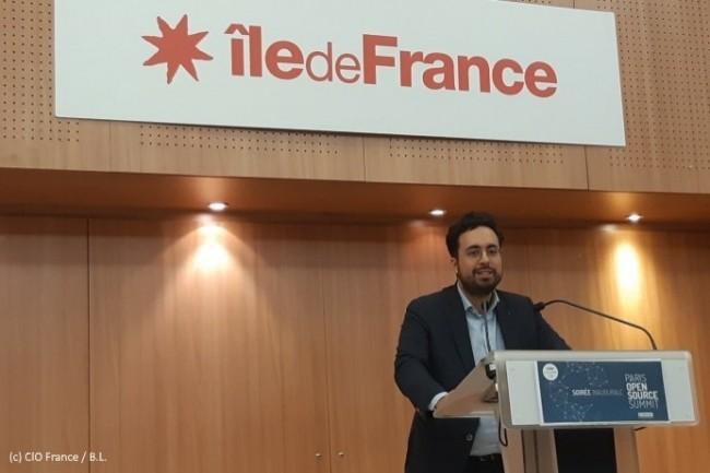 Mounir Mahjoubi a participé à la soirée inaugurale du Paris open source summit (POSS) le 4 décembre 2018.