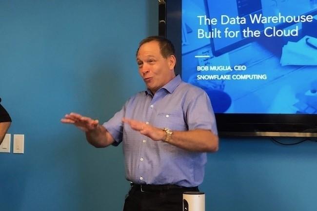 Bob Muglia, CEO de Snowflake, avait récemment confirmé que le datawarehouse SaaS serait lancé cet automne sur Azure en Europe, au même prix que sur AWS. (Crédit : S.L.)