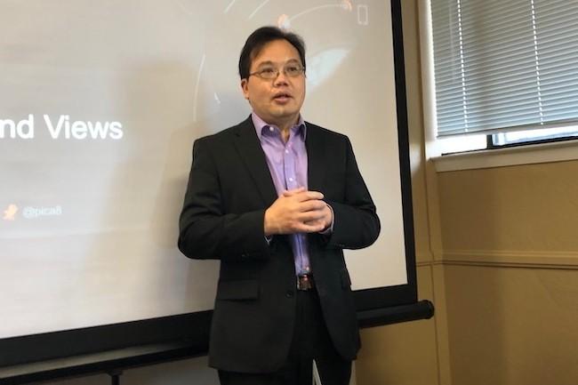 James Liao a fondé Pica8 en 2009 pour proposer un OS réseau indépendant du matériel. (Crédit S.L)