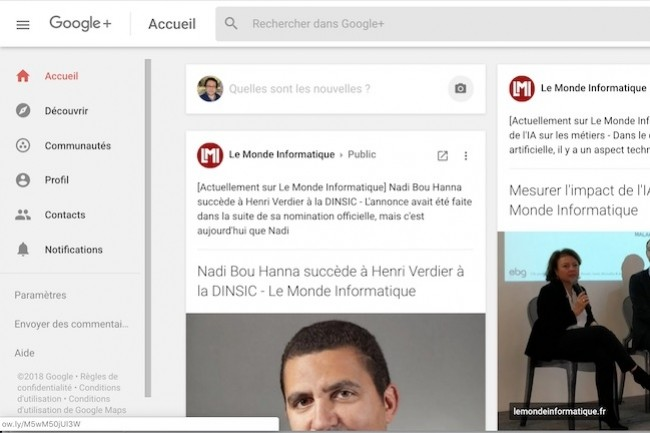 Nouvelle fuite de données de Google+, une bonne raison pour supprimer définitivement son profil.