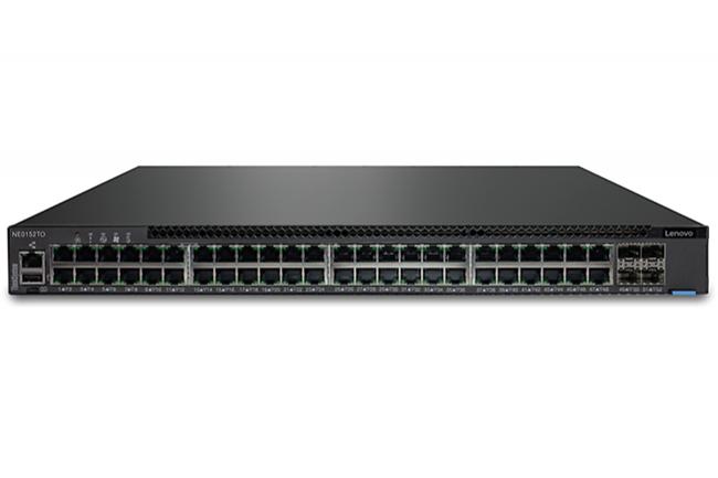 Le Lenovo ThinkSystem NE0152TO RackSwitch est l'un des switch sur lequel Cumulus sera disponible. (Crédit : Lenovo)