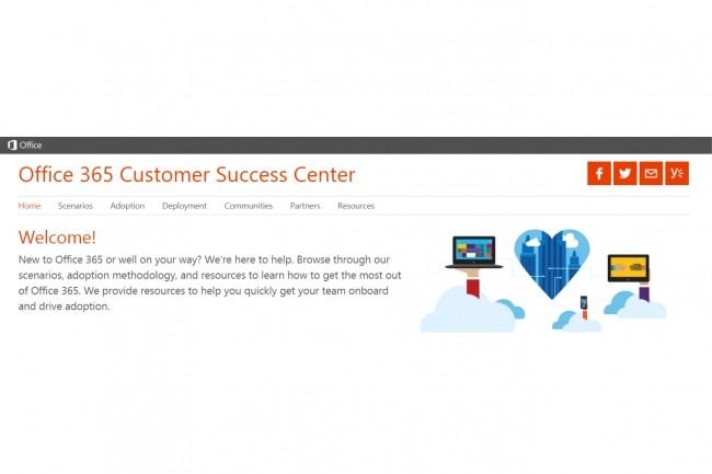 Le sous-domaine compromis, success.office.com, est dédié à l'aide à l'adoption d'Office 365 en entreprise et à en tirer une valeur commerciale. (Crédit : Microsoft)