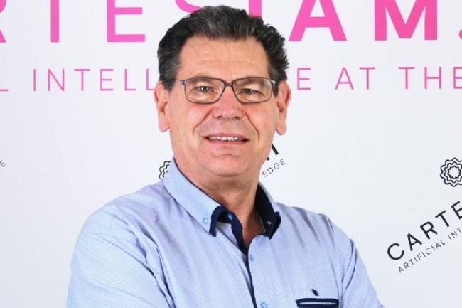Michel Rubino, président de Cartesiam, a co-fondé la société en 2016 avec Joël Rubino, DG, François de Rochebouet, directeur technique, et Marc Dupaquier, désormais CEO de la filiale américaine. (Crédit : Cartesiam)