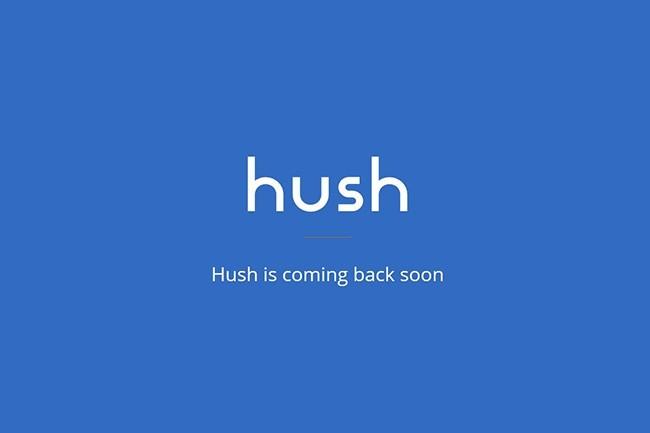 Le site officiel de la néo-banque ainsi que tous ses comptes sociaux sont inactifs ou supprimés depuis juillet 2018. (Crédit : Hush)