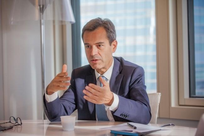 Christophe Leblanc, directeur des ressources et de la transformation numérique du groupe Société Générale, a succédé à Françoise Mercadal-Delasalles en juin 2017. (crédit : Aliexia Perchant)
